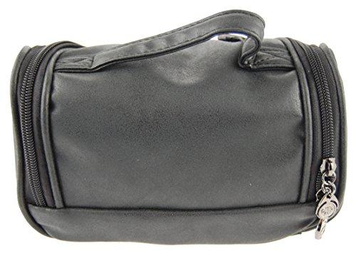 NB24 Versand Kosmetiktasche (a 3555), schwarz, ca. 21 x 11 x 12 cm, mit Reißverschluss