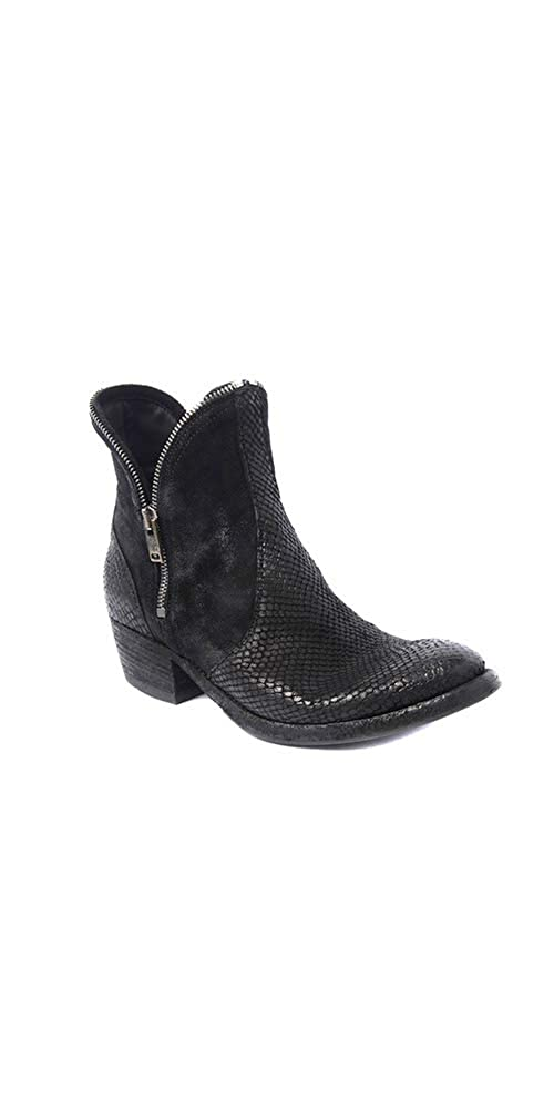 Tabacco Pantanetti Women's Ankle Boot 2 inch Heel Black Western Inspired