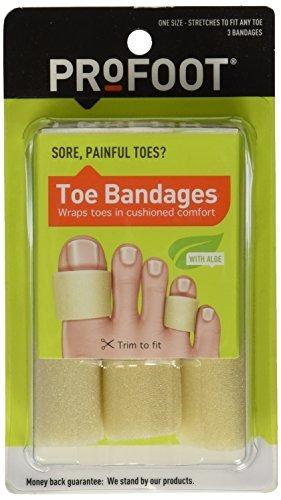 PROFOOT Toe Bandages, One Size, 3 bandages by Profoot Care