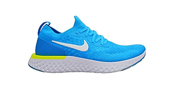 Nike Juniors - Epic React Flyknit (GS) - Blue Glow White Photo Blue - 943311-401: Amazon.es: Zapatos y complementos