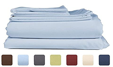 Twin Size Sheet Set - 3 Piece - Hotel Luxury Bed Sheets - Extra Soft - Deep Pockets - Easy Fit - Breathable & Cooling - Wrinkle Free - Comfy – Light Blue Bed Sheets Baby Blue Twins Sheets - 3 - Blue Plush Mattress Set