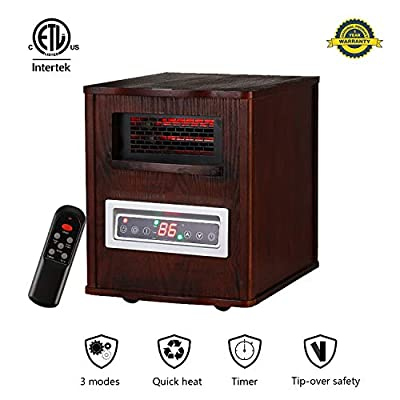 KOOLWOOM Space Heater 1500W TIP-Over & Overheat Protection