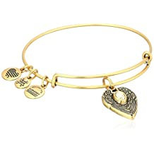 "Alex and Ani ""Path of Symbols"" Guardian Angel Expandable Wire Bangle Charm Bracelet"