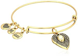 Alex and Ani Path of Symbols Guardian Angel Expandable Wire Gold Bangle Charm Bracelet