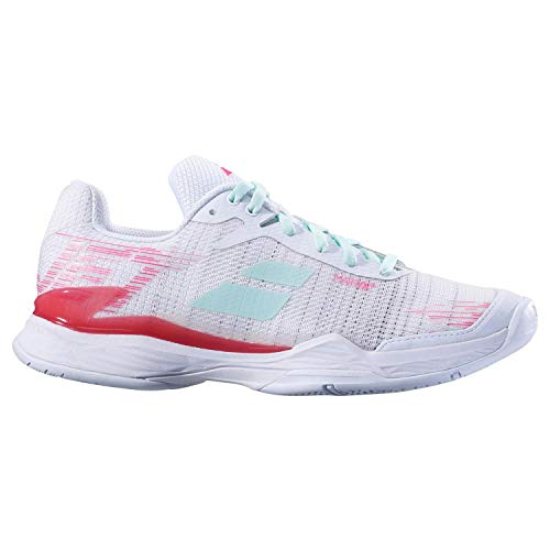 Mach Allcourt All tennis Scarpe Pantofole da Ii Jet 36 Babolat Bianco 5 Rosa Surfaces Women qWAt4g