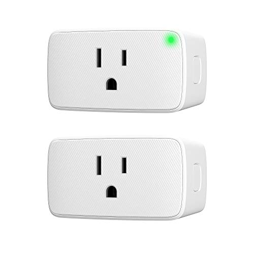 Price comparison product image VOCOlinc Smart Plug, Wi-Fi Mini Outlet Socket, Works with HomeKit (iOS12 or +), Alexa & Google Assistant, Timer, No Hub Required, 15A 1800W, 2.4GHz, Smartbar (2 Pack)