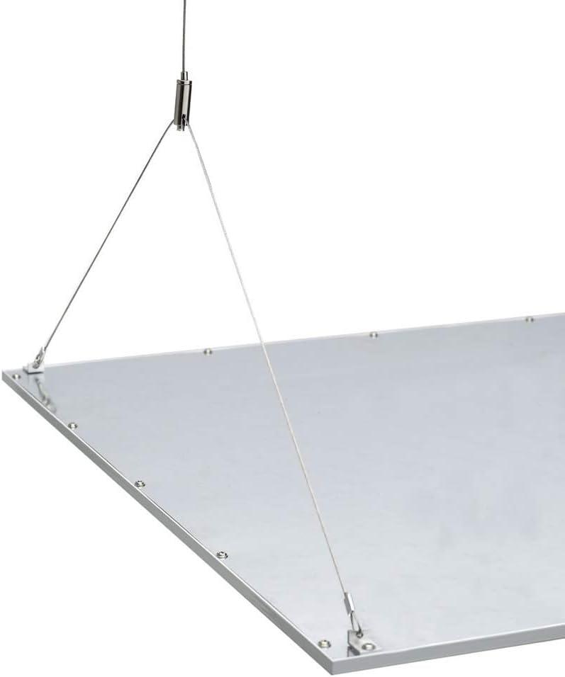 Biard Kit de Montaje con Cables de Suspensión para Estructuras Paneles LED de Techo 600 x 600mm - Compatible con Paneles LED 600x600 - Kit Soporte de Fijación al Techo