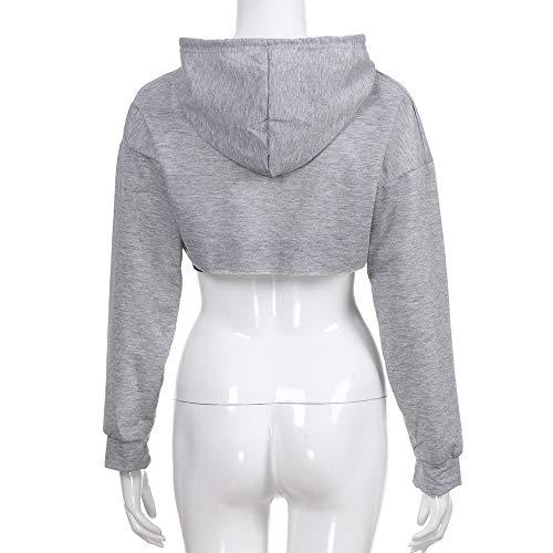 T Tops à Mode à Sweat Shirt Creux Mode pour Femmes Sweat T Femmes La à Capuche Short Beikoard Hors Shirt Shirt Gris Capuche pwSY8f