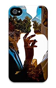 3D PC Back Case Cover for iPhone 4 DIY Custom Hard Shell Skin for iPhone 4 With You and Me, a World