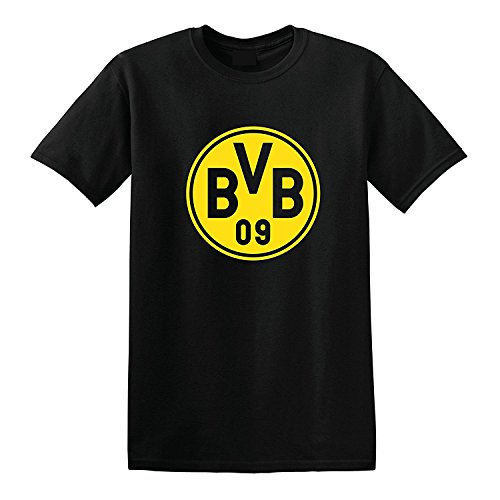 jinbaolong Borussia Dortmund Germany Mens T Shirt Tee Tops Premium High End (Classic Black, L) - Borussia Dortmund Shirt