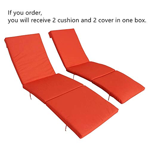 2Pcs Orange Cushion and Cover of Only Jetime Armless and Armed Lounge Chair ... (Lounge Chaise Replacement Cushions)