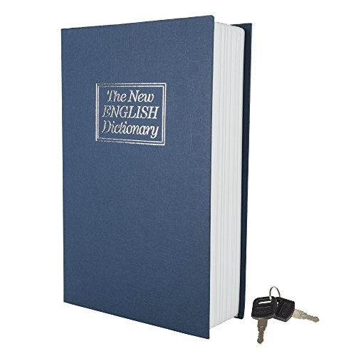 Stalwart A200017 Lock Box with Key, Diversion Book Safe (Portable Safe Box, Great for Traveling, Store Money, Jewelry, and Passport) by , Dictionary - 6 x 9 in - Rock The Cash Box
