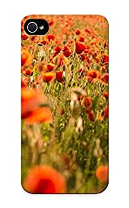 Fashionable Style Case Cover Skin Series For Iphone 5/5s- Red Poppies