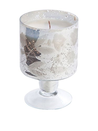 Napa Home & Garden Hayworth Floral Etched Footed Candle