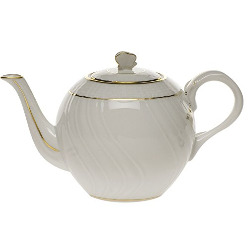 Herend Golden Edge Tea Pot With Butterfly