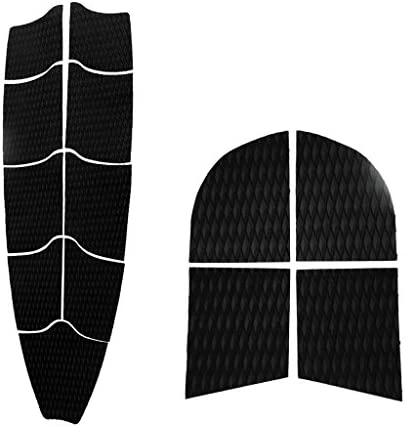 MonkeyJack Self Adhesive Diamond Grooved Non-Slip EVA 9Pcs Full Deck Grip Traction Pad 4Pcs Dog Traction Grip Mat Tail Pads for SUP Surfboard Stand Up Paddleboard Longboard Kiteboard Skimboard