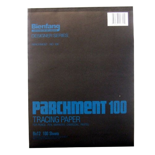 Bienfang Parchment Tracing Pad, 100 Sheets, 9-Inch by 12-Inch