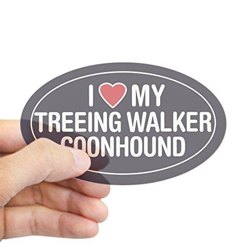 Love Walker (CafePress Love My Treeing Walker Coonhound OvalSticker/Decal Oval Bumper Sticker, Euro Oval Car Decal)