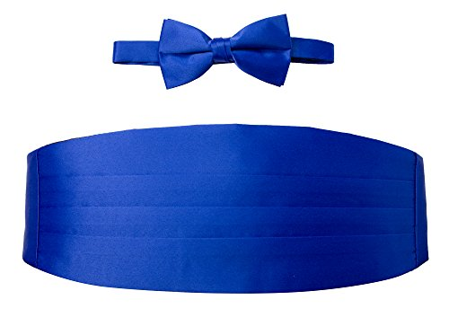 Spring Notion Men's Cummerbund and Bow Tie Set Royal Blue Royal Blue Cummerbund