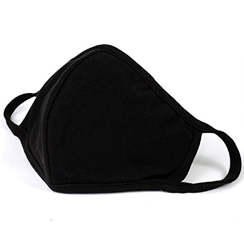 Halloween Tech Costumes (Mouth Mask Unisex Cotton Anti-dust Face Outdoor Anti-fog Mask Black)