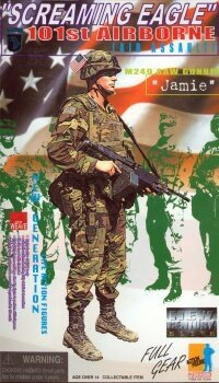 1/6 Dragon Models 101st. Airborne Screaming Eagle M249 SAW Gunner ()