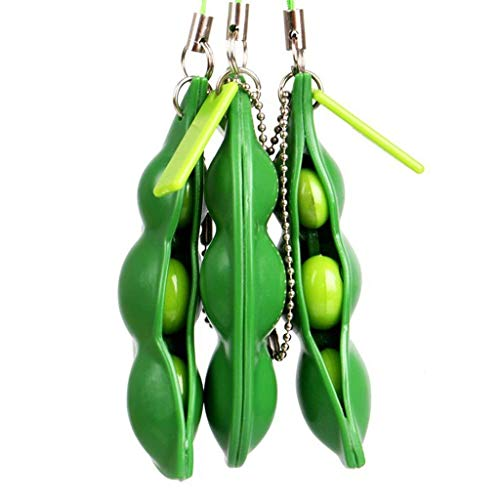 - Lucky Sandwich 3-Pack Edamame Soybean Squeeze Keychain Fidget Toy Stress Relief