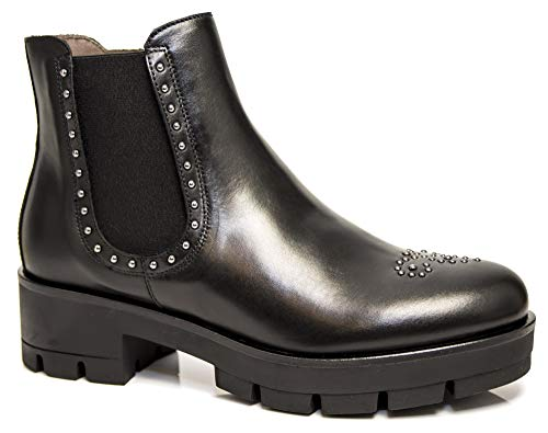 Mujer Beatles A806541 100 Tachuelas De 6541 Polacchini Zapatos Negro Nerogiardini Con Zq0YRY
