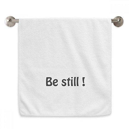DIYthinker Be Still Text Christian Quotes Circlet White Towels Soft Towel Washcloth 13x29 Inch by DIYthinker
