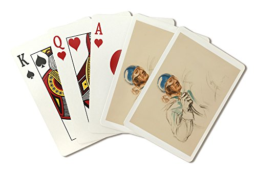 Bugatti Driver Vintage Poster (artist: Geo Ham) c. 1928 (Playing Card Deck - 52 Card Poker Size with Jokers)