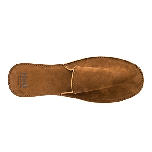 Hide & Drink Medium Leather House Slippers For Men Handmade by Swayze Suede