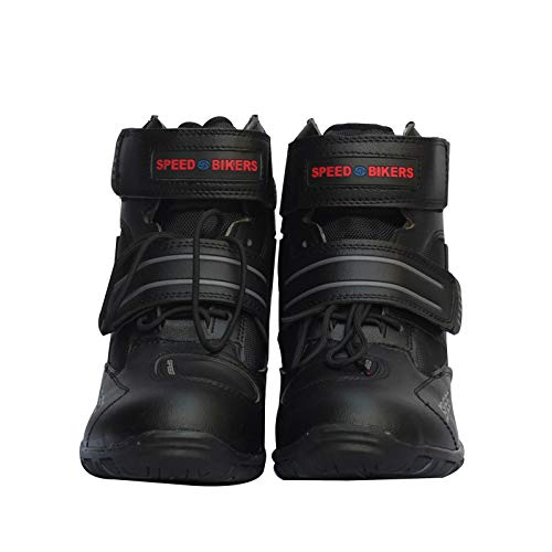 Meiyiu Motorcycle Boots Soft Motorcycle Boots Biker Waterproof Speed Motorboats Men Motocross Boots Non-slip Motorcycle Shoes black ()