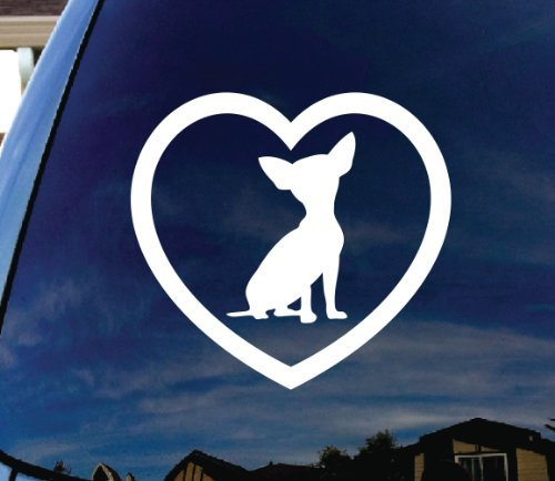 SoCoolDesign Chihuahua Heart Love Car Window Vinyl Decal Sticker 5