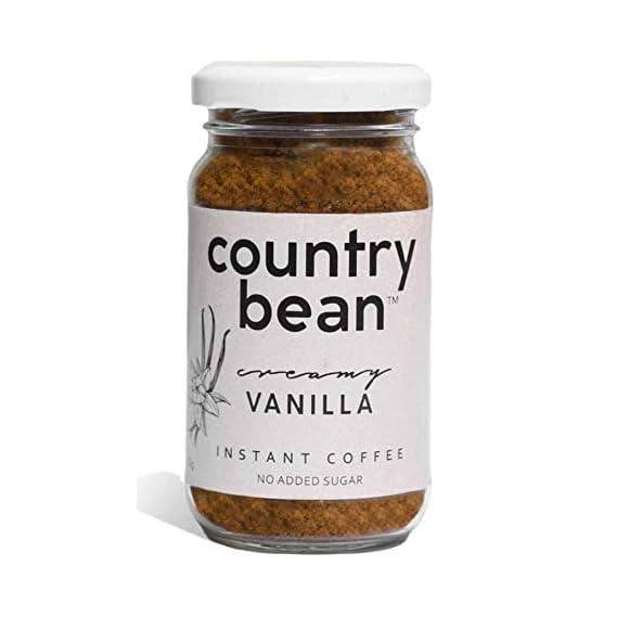 Country Bean Instant Coffee Powder   Vanilla Flavoured Coffee 60 g