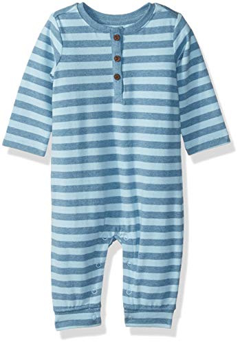 Gymboree Baby Boys Sleeve Long One-Piece, Blue Stripe, 3-6 Mo from Gymboree