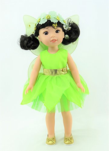 "Tinker Bell Fairy Outfit | Fits 14"" Dolls - Fits 14 inch Dolls such as the Wellie Wishers (Tinkerbell Fashion Doll)"