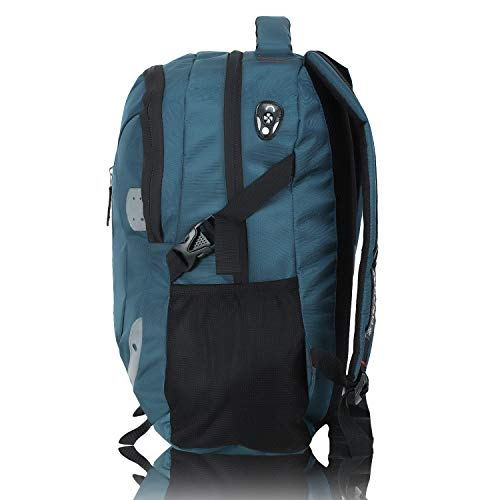 HEROZ Harbour Unisex Nylon 28 L Travel Laptop Backpack Water Resistant Slim Durable Fits Up to 17.3 Inch Laptop Notebook (153-ALL) (Air Force Blue)