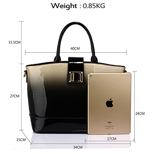 Shoulder Handbag Designer Bag Design New Ladies Leather Fashion Large Apricot Patent 1 Women Tote IwxEqfgZ
