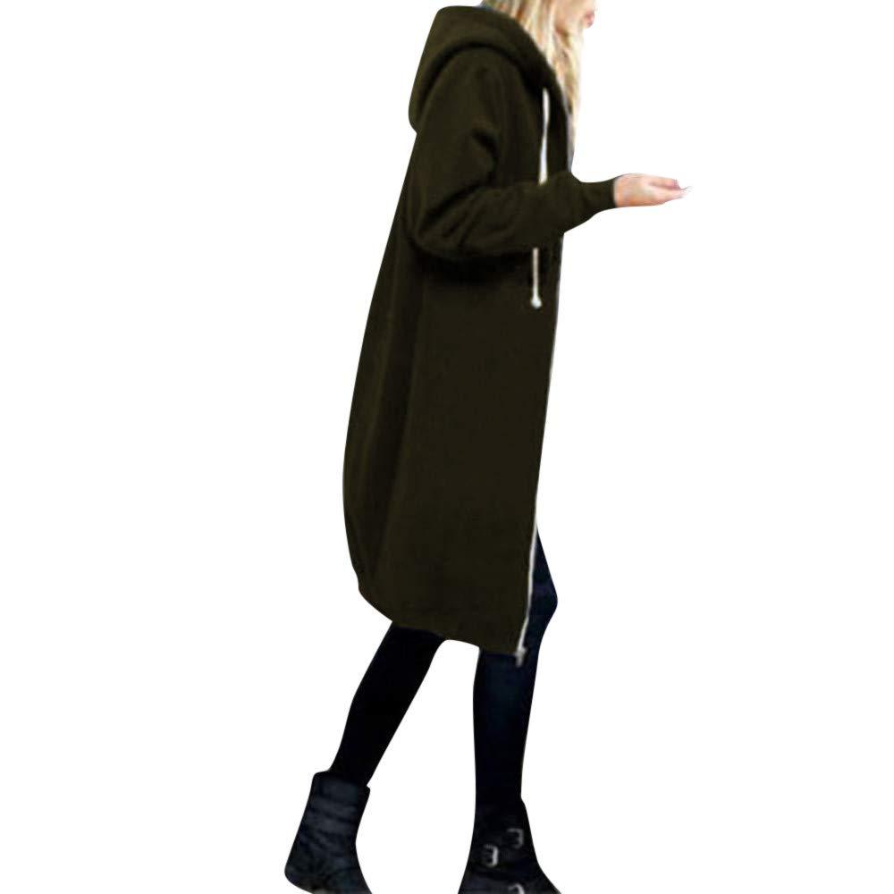 ❤️Manteau Veste Femme Blouson Amlaiworld Femmes Manteaux à Capuche Zipper Blouson Veste Jacket Manches Longues Chaud Épais Hoodie Hoody Outwear Automne Hiver Slim Fit