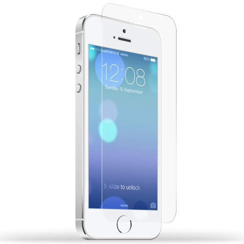 Devia Original Series Apple iPhone 5S High Definition (HD) Clear Flim Screen Protector for iPhone 5 5s Front and Back Full Body Protector / Ultra High Definition Invisible and Anti-Bubble Crystal Shield-[Retail Packing]-Clear(front)Golden(Back)