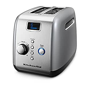 KitchenAid KMT223 2-Slice Toaster with One-Touch Lift/Lower and Digital Display - Silver
