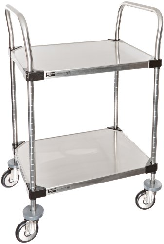 Intermetro-Industries-Metro-MW-Series-Stainless-Steel-Utility-Cart-2-Shelves-375-lbs-Capacity-24-Length-x-18-Width-x-38-Height