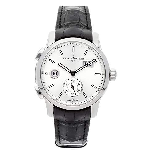 Ulysse Nardin Dual Time Mechanical (Automatic) Silver Dial Mens Watch 3343-126/91 (Certified Pre-Owned)