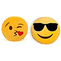 2Pack Smiley Pillows
