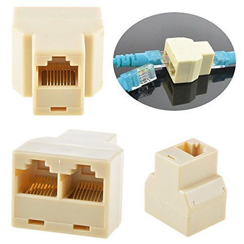 RJ45 CAT5 6 Ethernet cable LAN Port 1 to 2 Socket Splitter C