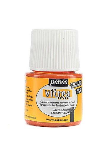 Pebeo Vitrea 160 Glass Paint saffron yellow gloss 45 ml [PACK OF 3 ()