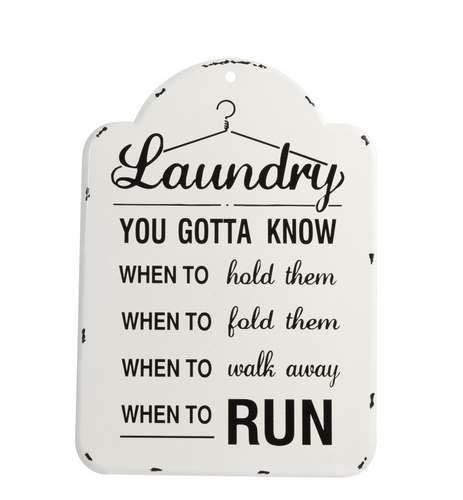 J-line Laundry - Cartel de Metal, Color Blanco y Negro ...