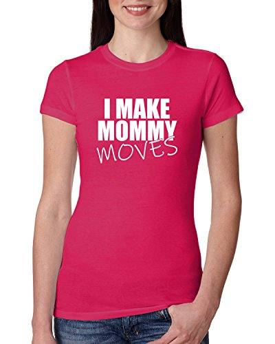 I Make Mommy Moves | Bardi Gang Lyrics | Womens Pop Culture Junior Fit Tee, Raspberry, Medium