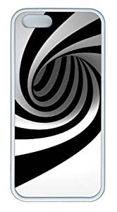 Black and white spiral TPU White indestructible iphone 5 cases for Apple iPhone 5/5S