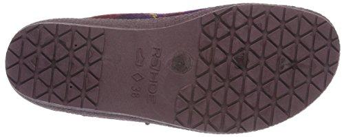 Rohde Neustadt-d, Zuecos para Mujer Morado - Violett (brombeere 59)