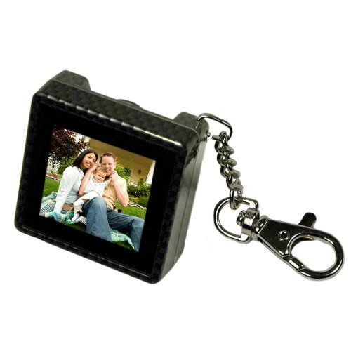 Digital Foci PAO-150 1.5-Inch Pocket Album OLED Keychain Digital Photo Viewer (Carbon Fiber) ()